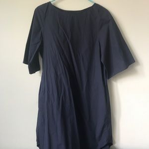COS Cotton Shift Navy Dress